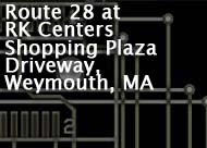 Route 28 at RK Centers Shopping Plaza Driveway, Weymouth, MA